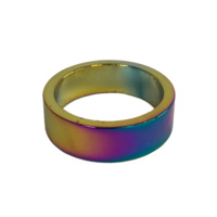 Alloy Head Set Spacer 10mm Tricolour