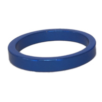 Alloy Head Set Spacer 5mm Blue