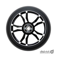 District Wide Milled Core Wheel 120mm - Black/Black