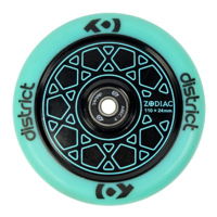 District Zodiac Wheel 110x24mm Sky Blue/Black