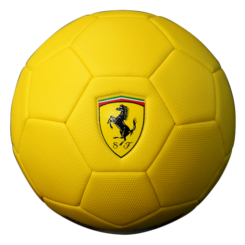 FERRARI #5 MACHINE SEWN SOCCER BALL - Yellow