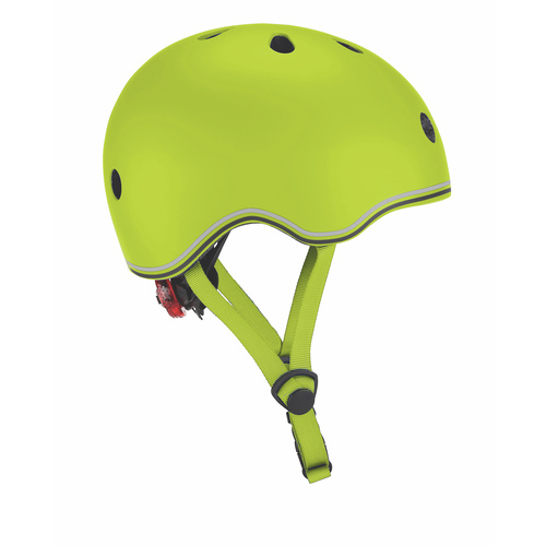 Globber Helmet w/Flashing LED Light - Lime Green 46-51cm
