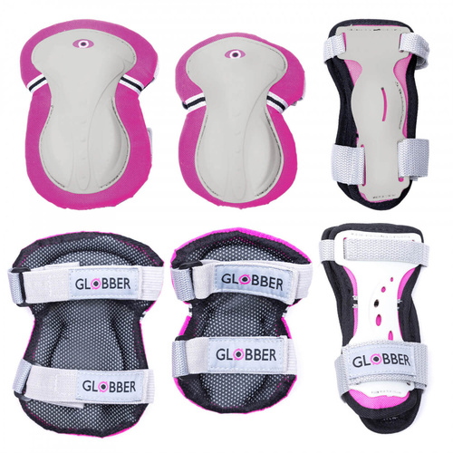 GLOBBER Junior Protective Pad Set XS - Deep Pink
